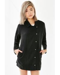 BDG - Black Drapey Trench Coat - Lyst