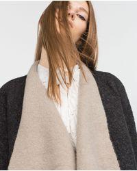 Zara   Gray V-neck Jacket   Lyst