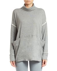 Free People | Gray Long Flight Pullover | Lyst