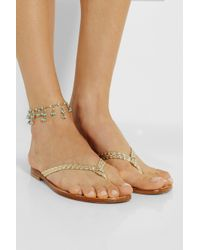 Rosantica - Blue Odalisca Golddipped Turquoise Anklet - Lyst