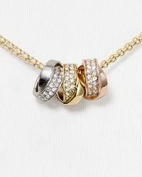 Michael Kors - Metallic Tritone Rings Necklace 16 - Lyst