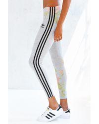 cd52ccc601743 adidas Originals Pastel Rose Legging in Gray - Lyst