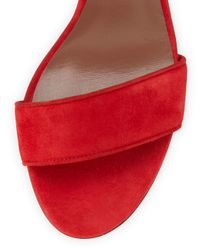 Tabitha Simmons - Red Leticia Suede Sandals - Lyst