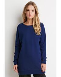 Forever 21 | Blue Longline Raglan Sweatshirt | Lyst