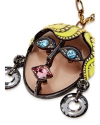 Lanvin - Metallic 'xandra' Necklace - Lyst