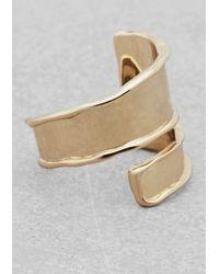 & Other Stories | Metallic Wraparound Ring | Lyst