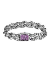 John Hardy | Metallic Classic Chain Small Braided Silver Bracelet | Lyst