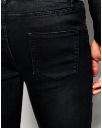 ASOS - Black Extreme Super Skinny Jeans With Biker Panels for Men - Lyst