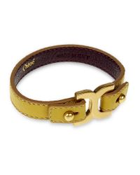Chloé | Yellow Marcie Leather Bracelet | Lyst