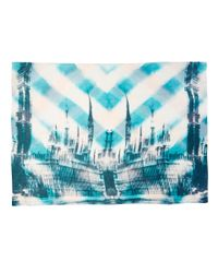 Lily and Lionel - Blue Thames Parliament Building Silk-blend Scarf - Lyst