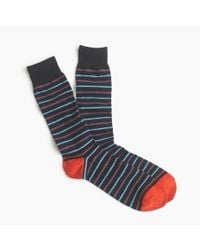J.Crew | Blue Thin-striped Socks for Men | Lyst