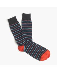 J.Crew | Multicolor Thin-striped Socks for Men | Lyst