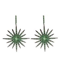 Bochic - Green Sapphire Starburst Earrings - Lyst