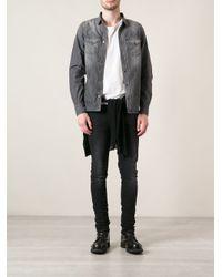 DIESEL - Gray Denim Shirt for Men - Lyst