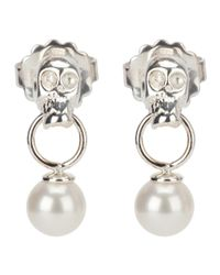 Delfina Delettrez | Metallic Skull Earrings | Lyst