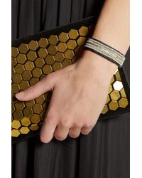 Maria Rudman - Black Embroidered Leather Bracelet - Lyst