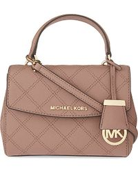 MICHAEL Michael Kors - Pink Ava Extra-small Quilted Leather Cross-body Bag - Lyst