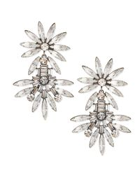 DANNIJO | Metallic Katie Large Crystal Earrings | Lyst