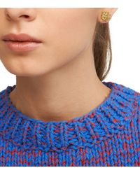 Tory Burch | Metallic Small T-logo Stud Earring | Lyst