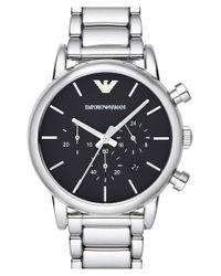 Emporio Armani - Black Chronograph Bracelet Watch for Men - Lyst