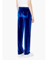 Mango | Blue Flowy Trousers | Lyst