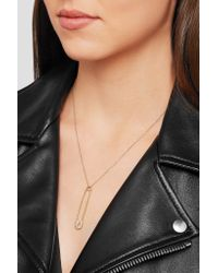 Ileana Makri - Blue Safety Pin 18-karat Gold Diamond Earring - Lyst