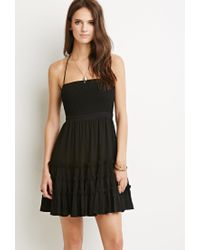 Forever 21 | Black Tiered A-line Dress | Lyst