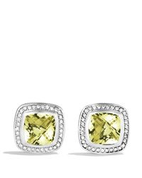 David Yurman | Metallic Albion Earrings With Lemon Citrine & Diamonds | Lyst