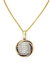 Effy | Metallic Doro 14kt. White And Yellow Gold Diamond Pendant Necklace | Lyst