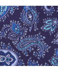 Etro   Blue Paisley Woven Silk Tie for Men   Lyst