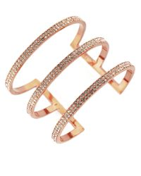 Vince Camuto - Metallic Pavé 3-bar Cuff Bracelet - Lyst