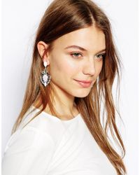 ALDO - White Connon Baguette Stone Drop Earrings - Lyst