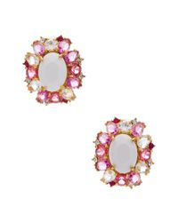 kate spade new york | Pink Garden Bed Gems Statement Studs | Lyst