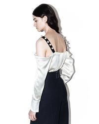 3.1 Phillip Lim - Multicolor Cold-shoulder Top - Lyst