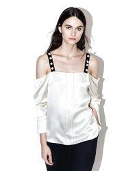 3.1 Phillip Lim   Multicolor Cold-shoulder Top   Lyst