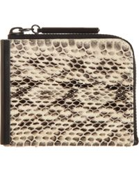 3.1 Phillip Lim - Natural Snakeskin Small Zip Wallet - Lyst