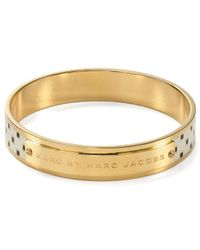 Marc By Marc Jacobs | Metallic Block Print Bangle | Lyst