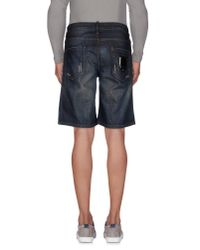 Philipp Plein | Blue Denim Bermudas for Men | Lyst