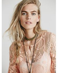 Free People | Pink El Sol Mini Dress | Lyst