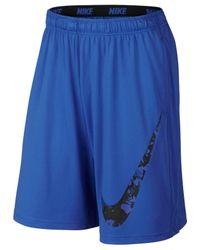 "Nike | Blue Men's Fly Splinter 10"" Dri-fit Camo Running Shorts for Men | Lyst"