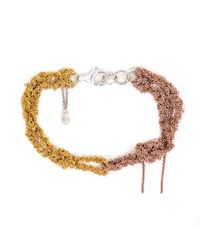 Arielle De Pinto | Metallic Siamese Bracelet In Yellow & Rose Gold | Lyst