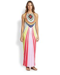 Mara Hoffman | Pink Rays Jersey Fitted Maxi Dress | Lyst