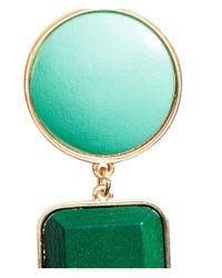 H&M | Green Long Earrings | Lyst
