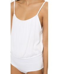 Alice + Olivia - White Cross Back Ballerina Bodysuit - Lyst