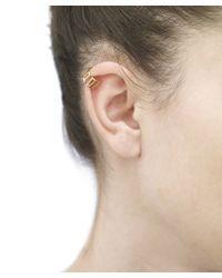 Arme De L'Amour | Metallic Medium Stripe Ear Ring | Lyst