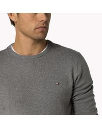 Tommy Hilfiger | Metallic Pima Cotton Cashmere Sweater for Men | Lyst
