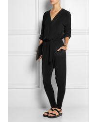 caf33e2fb80 Lyst - MICHAEL Michael Kors Studded Stretch-Jersey Jumpsuit in Black