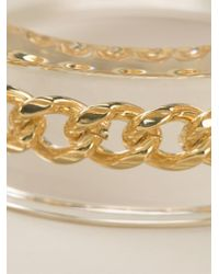 McQ - Metallic 'Plexi Chain' Bangle - Lyst