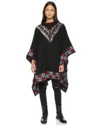 6 Shore Road By Pooja - Gypsy Embroidered Poncho - Black Rock - Lyst