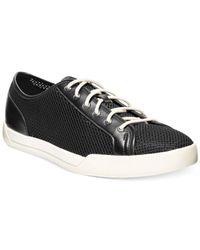 Cole Haan - Black Jasper Mesh Oxford Sneakers for Men - Lyst